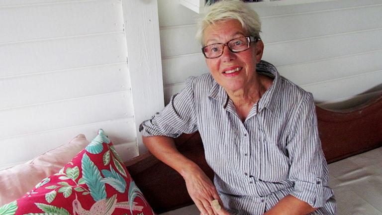 Rita Södergård, ordförande i Fagersta-Västanfors hembygds- och fornminnesförening