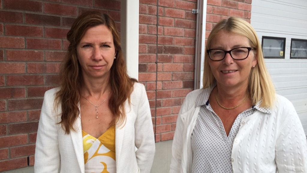 Carin Lidman (S), kommunalråd och Elisabeth Unell (M), oppositionsråd i Västerås. Foto: Liselotte Mellesmo/SR.
