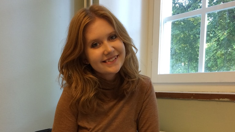Engla Millberg brukar delta i Mattecentrums räknestuga på Rudbeckianska gymnasiet i Västerås.