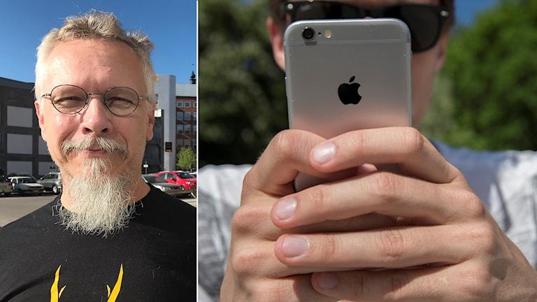 Lasse Johansson som arrangerar VM i Turf och en mobil.