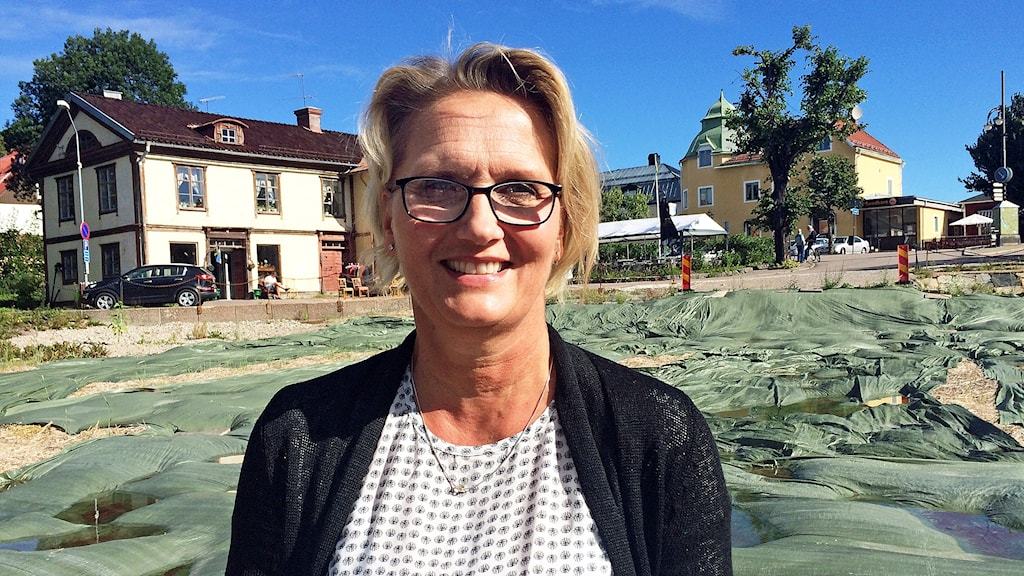 Kristina Leijonhufvud, ägare till Elsa Andersons konditori i Norberg.