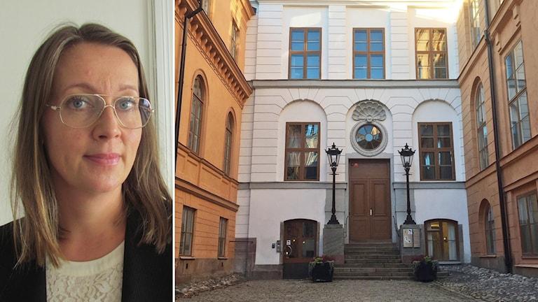 Försvarsadvokat Amanda Hikes och Svea hovrätt.