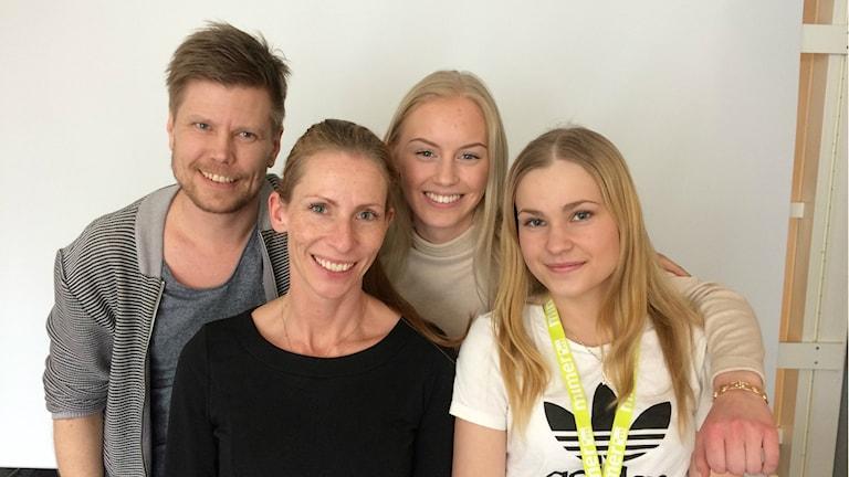 Ted Radgren, Pamela Ernlund, Isabelle Pettersson och Isabel Rydén