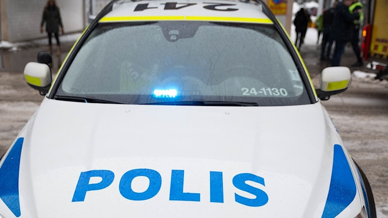 Polisbil polis brandkår brand
