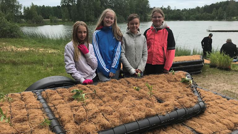 Wilma Ahlm, Agnes Hedberg, Moa Antonsson och Alva Kullinger från Kilbo skola.