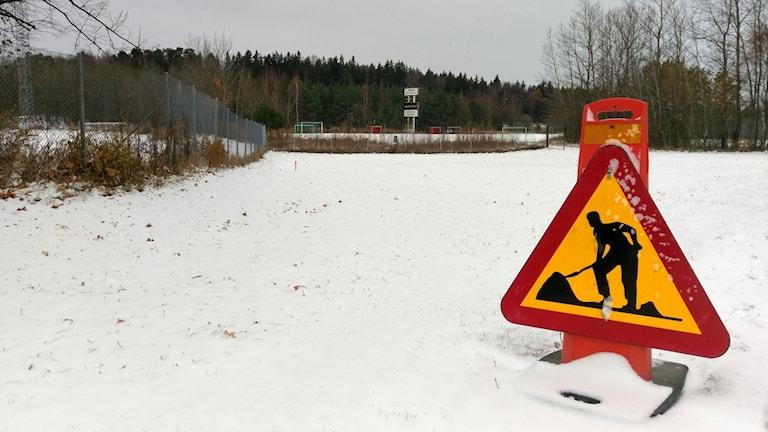 Område framför Wenströmska gymnasiet.