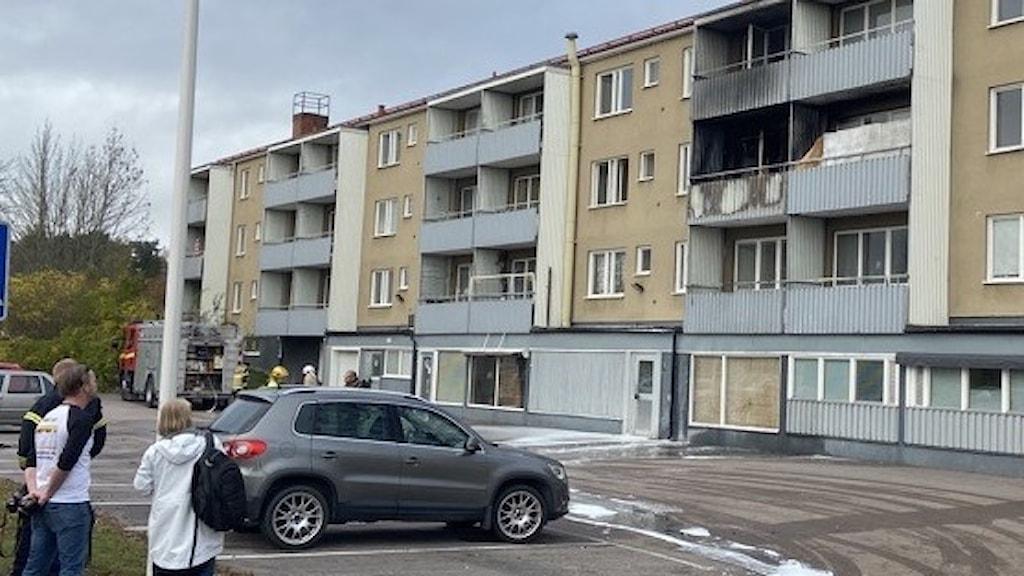 Två brandskadade lägenhets i Ramnäs.