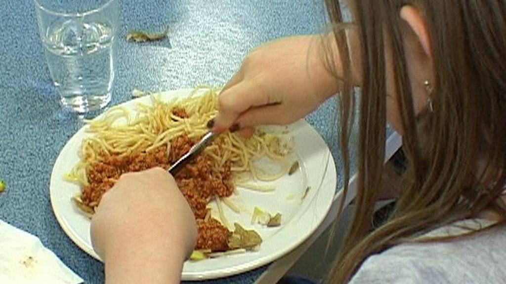 Spagetti med köttfärssås.