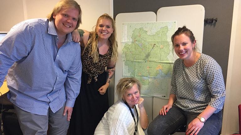 Mattias Rensmo, Jonna Noblin, Malin Helenius och Sofie Tejre är några av de som ska ut i länet.