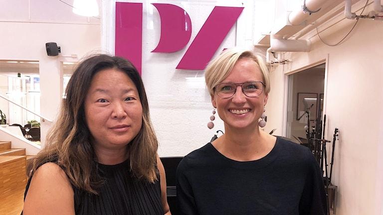 Jessica Polfjärd (M) och Åsa Eriksson (S).