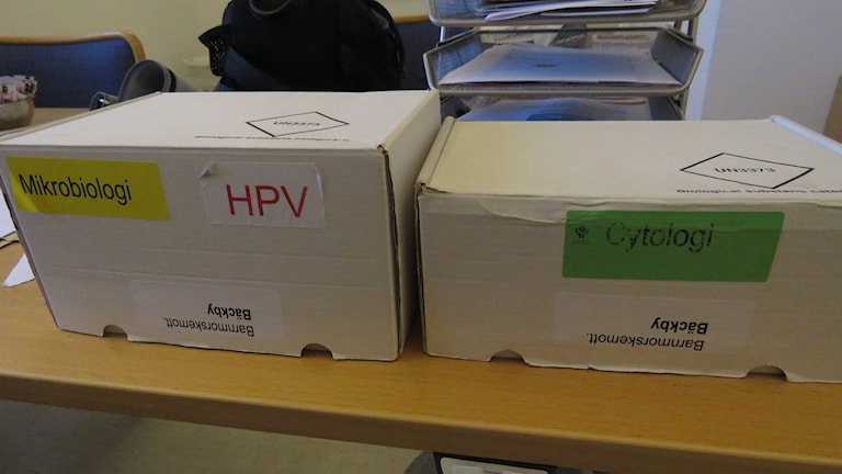 Prover för HPV och cellprov.