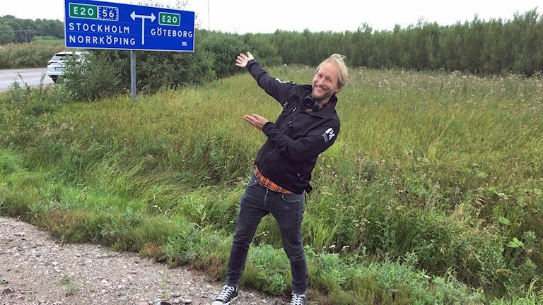 Marcus Carlsson i mål i Kungsör.