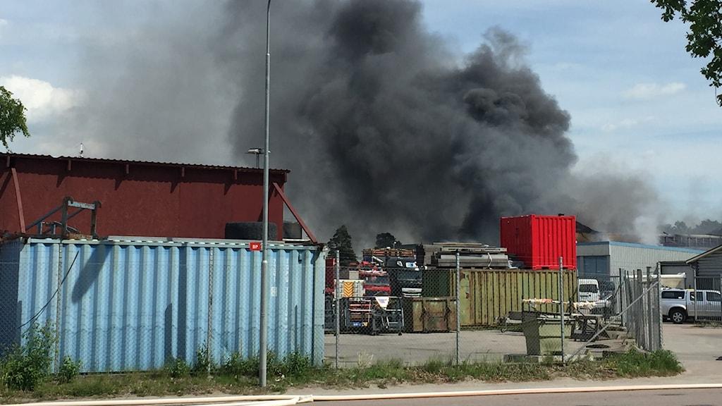 Brand på Sjöhagsvägen i Västerås