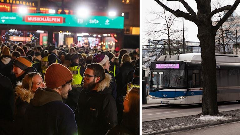 Gratis buss  ska få fler till Musikhjälpen.