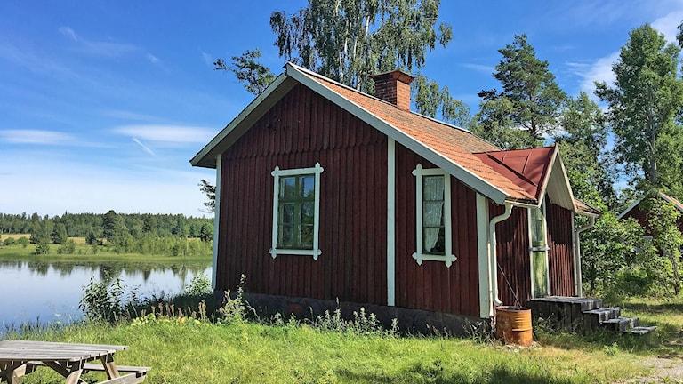 Oxbrons banvaktarstuga i Skinnskatteberg.