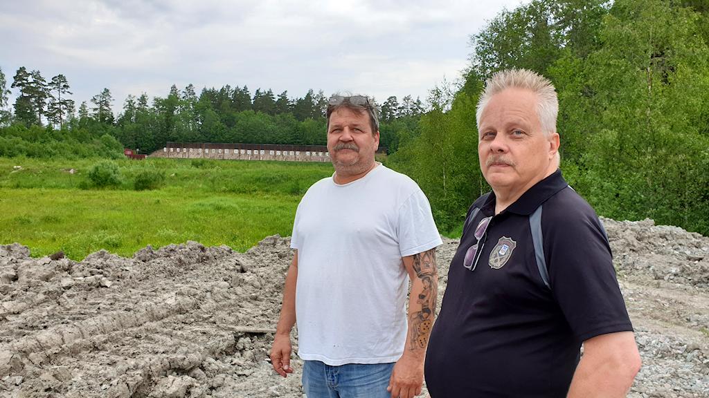 Markku Ollila och Stefan Andersson i Västerås Frivilliga Skarpskytteförening