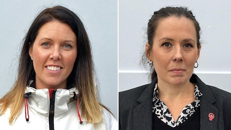 Johanna Odö (S) och Lisa Bäckman (V) i Norberg.