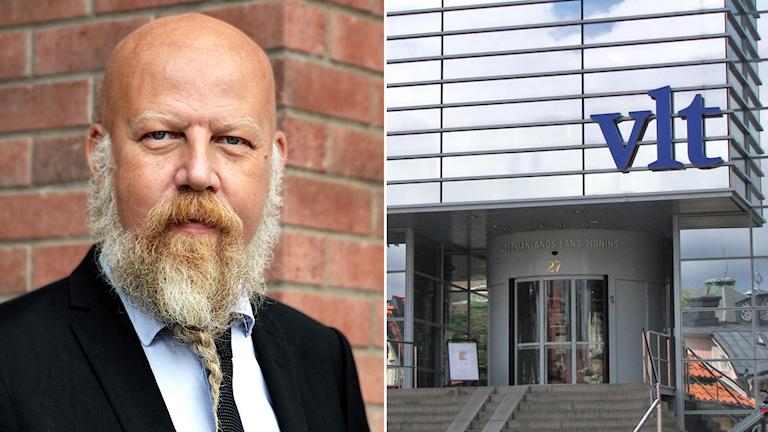 Daniel Nordström och VLT-huset i Västerås.