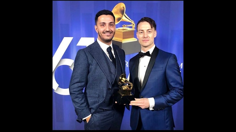 Rami Dawod och Jacob Olofsson bildar tillsammans Jarami. Här under Grammy-galan.