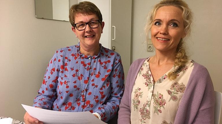 Eva Ågren och Ylva-Li Lindahl barnmorskor.