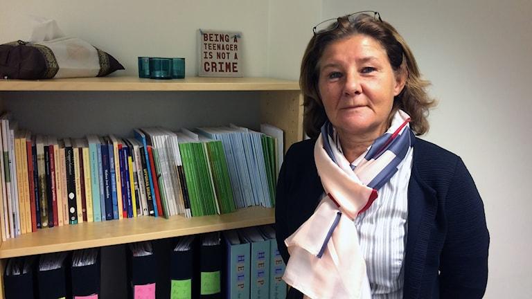 Kerstin Lif, rektor på Nybyggeskolan i Västerås.