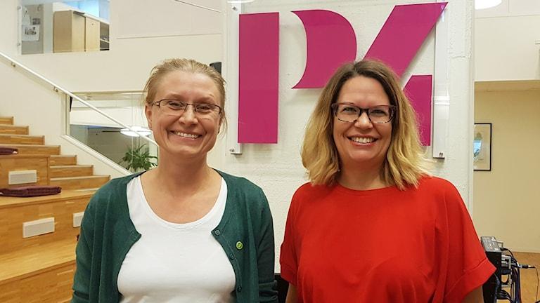 Pernilla Rinsell (MP) och Malin Gabrielsson (KD).