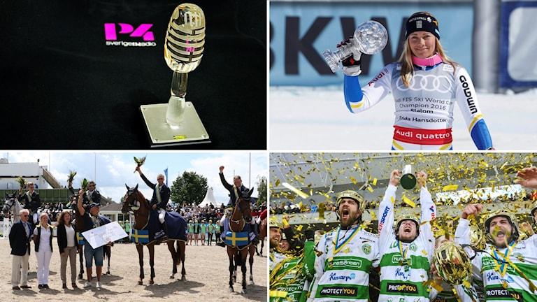 Glasmicken, Frida Hansdotter, Strömsholms RSF och VSK Bandy har chans att vinna P4 Västmanlands Idrottspris.