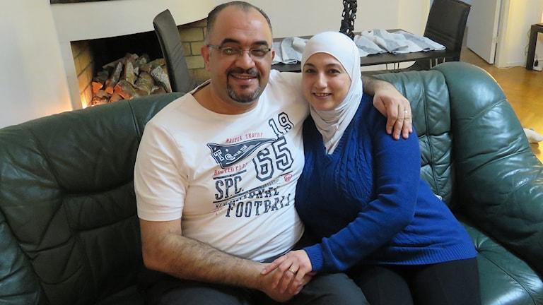 Ayad Awini och hans hustru Reem.