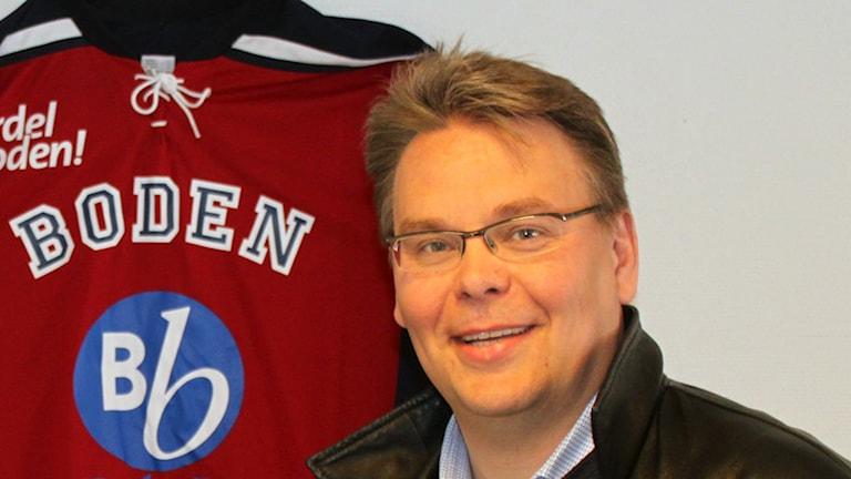 Joakim Svensson är ordförande i Boden Hockey.