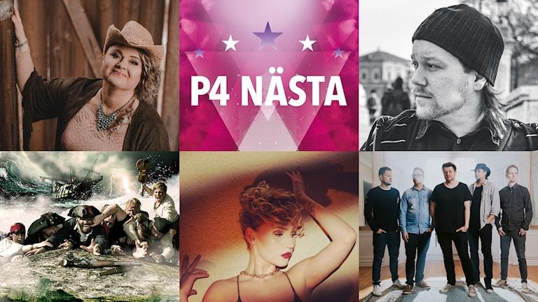 Eliza, Evelon, Pat Razket, Cajsa Camomile och Haywireband tävlar i P4 Nästa Västmanland.
