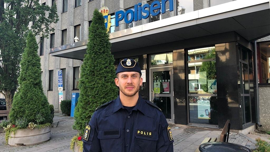 Polisen presstalesperson Johan Thalberg.