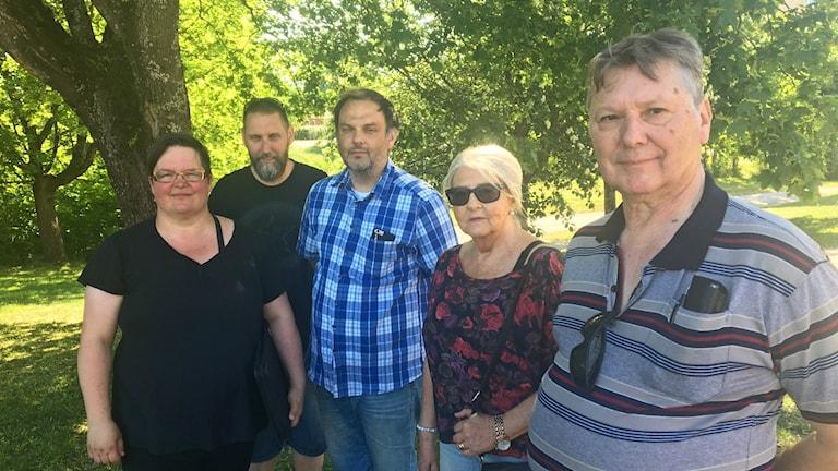 Från vänster: Ulla Hanju, Anders Jansson, Erik Henriksson, Lisbeth Henriksson och Kenneth Gyrished.