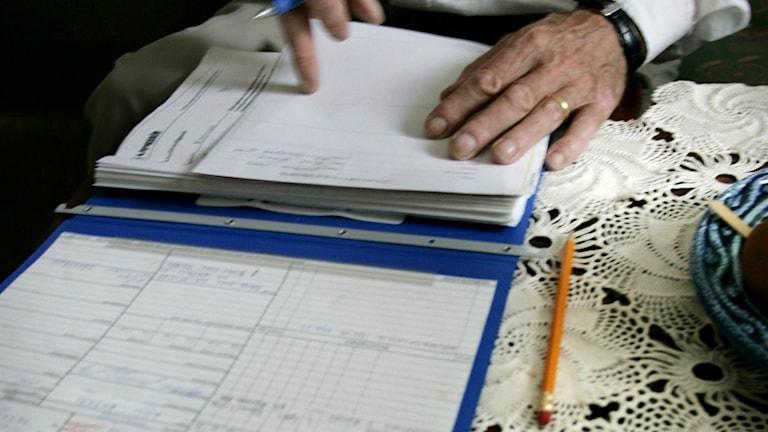 Vad står det i patientjournalen? Foto: Anna Simonsson / SvD / TT