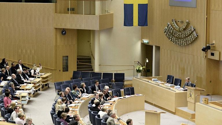 Har du förtroende för Sveriges riksdag? Foto: Claudio Bresciani/TT