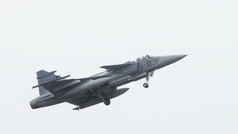 A Swedish Gripen fighter jet. File photo: Susanne Lindholm/TT