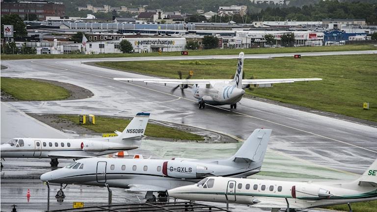 Bild på Bromma flygplats. Foto: Lars Pehrson/TT