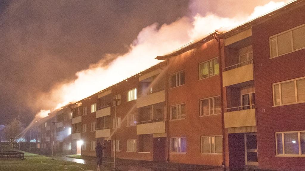 Brand i Enköping.