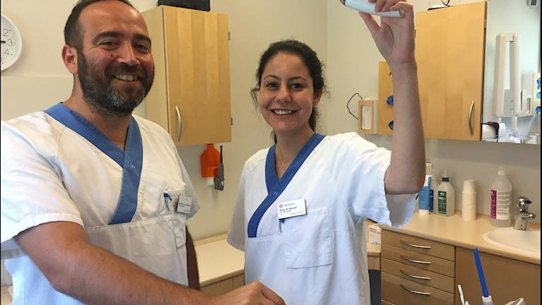 Pablo Gonzalez och Alaa Al Khatib är två av de nya tandläkarna i Östhammar