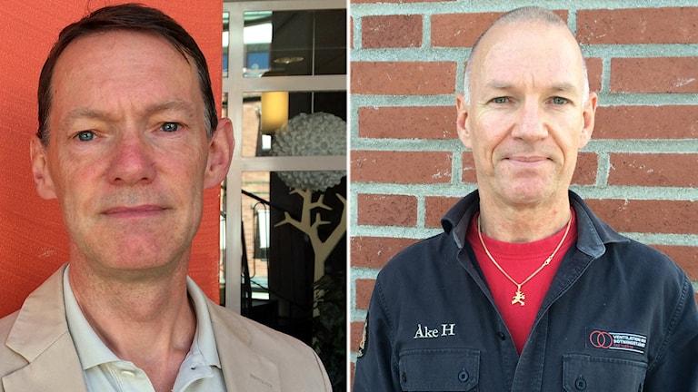 William Nisser är en av de som blivit kontaktade av företaget. Th skorstensfejarmästaren Åke Huss.