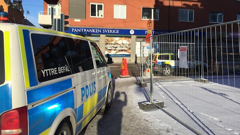 Polisen utreder ett rånförsök i centrala Uppsala.