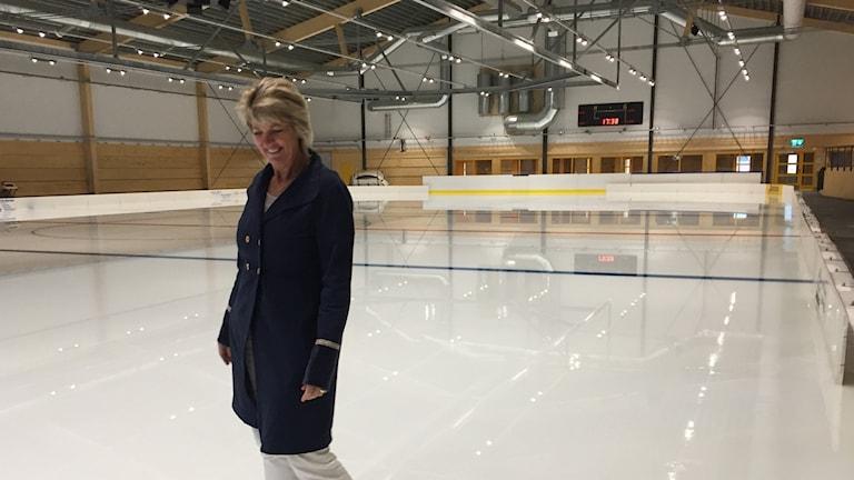 Lena Lantz om den nya ishallen i Enköping.