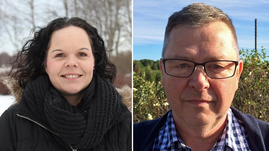 Marie Larsson (S) och Torbjörn Löfgren från Kommunens väl i Älvkarleby kommun