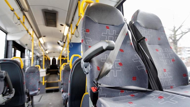 Tomma platser i en buss