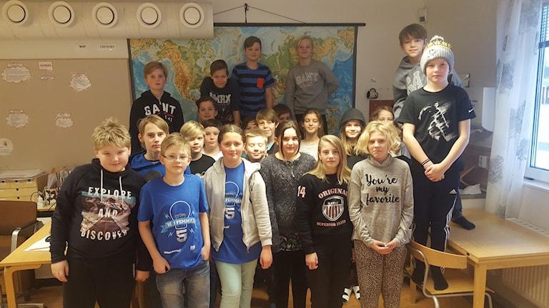 Klass fem i Vattholmaskolan.
