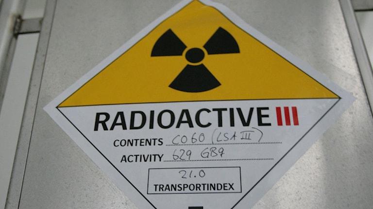 Radioaktivt kärnavfall.