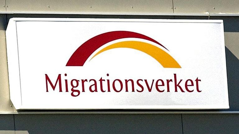 Migrationsverket-skylt. Foto: Maja Suslin/Scanpix