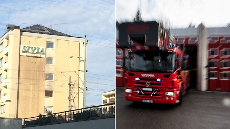 Brand i lägenhet på Vaksalagatan i Uppsala.