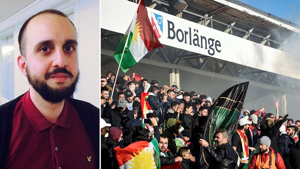 """Ekim Caglar, statsvetare och författaren bakom boken """"Popagandafotboll"""" om Dalkurds historia och betydelsen för kurder."""