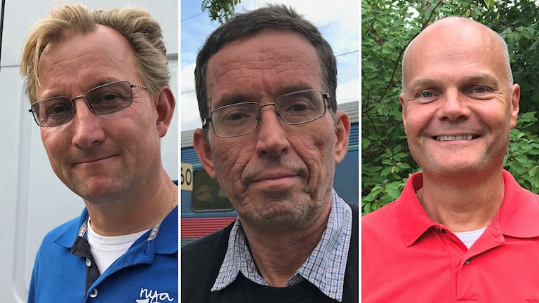 Klas Bergström (M),  Lennart Lundberg (KNU) och Peter Evansson (S) i Knivsta kommun.