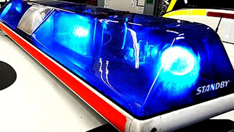 Blåljus på polisbil (arkivbild). Foto: Tomas Oneborg / SvD / Scanpix